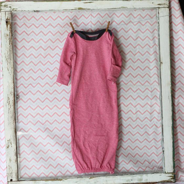 Baby Gowns sewn by Mabey She Made It #nestingtonewborns #peekaboopattern