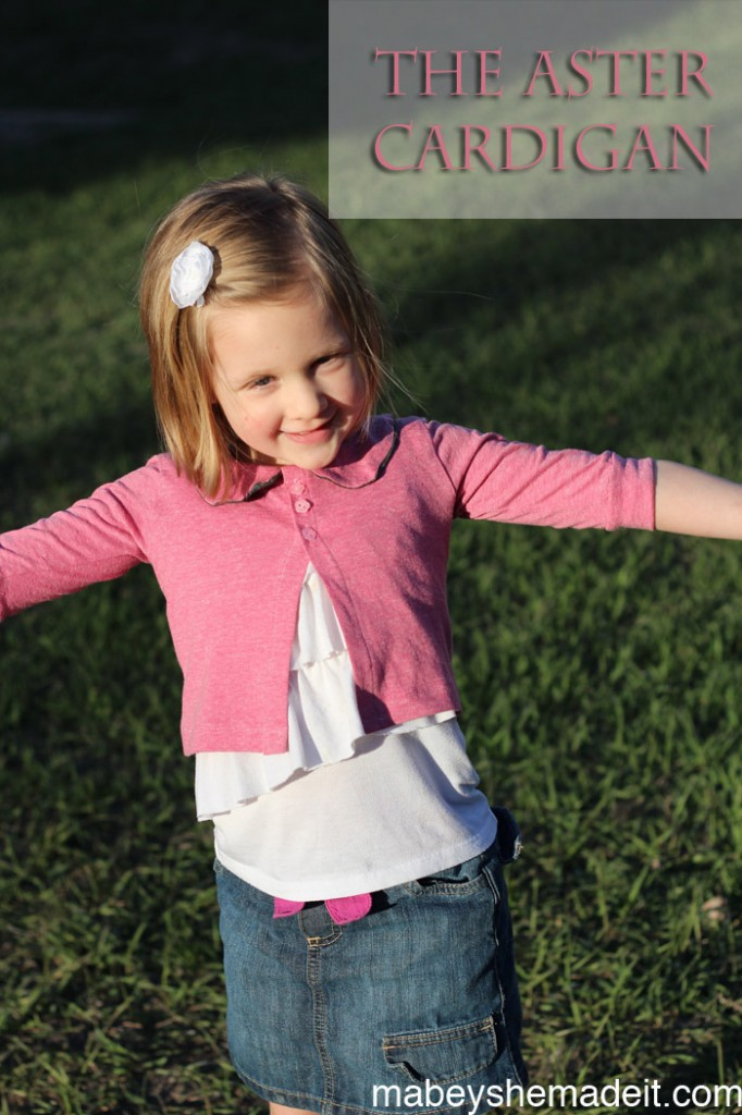 Aster Cardigan by Willow & Co. | Mabey She Made It #willowandcopatterns #cardigan #sewingforkids