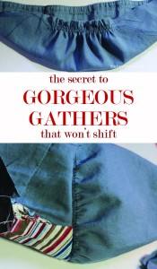 The Secret to Gorgeous Gathers | Mabey She Made It #gatheringfabric #sewing #sewingtips