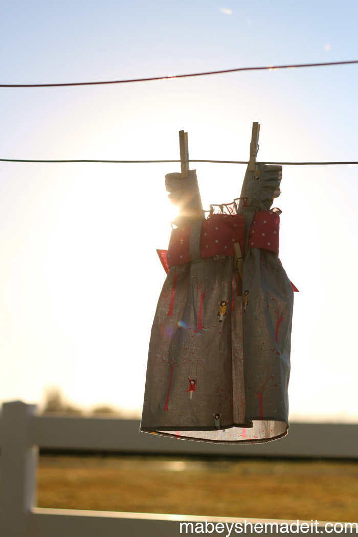 Ava Dress Ruched Sundress | Mabey She Made It #kidsclothesweek #sewingforkids