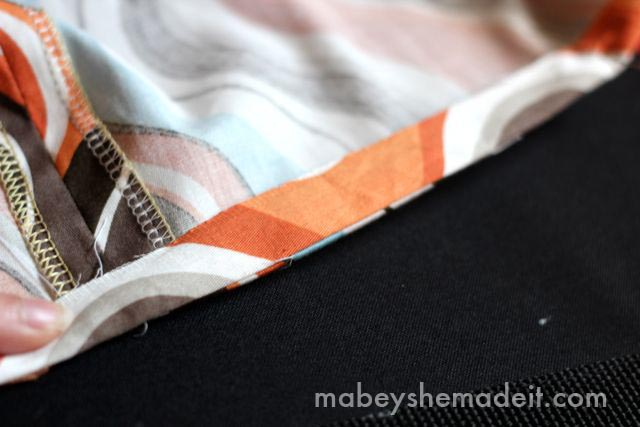 The Secret to Hemming Curved Edges Perfectly | Mabey She Made It #hemming #sewing #sewingtips