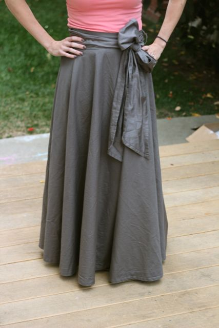 Make a Maxi Skirt from a Bed Sheet | Mabey She Made It
