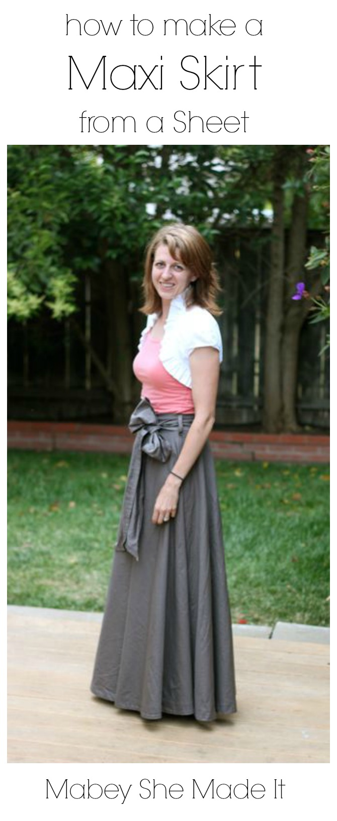 Make a Maxi Skirt from a Bed Sheet | Mabey She Made It - photo #3