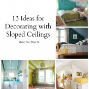 13 Ideas for Decorating with Sloped Ceilings | Mabey She Made It #slopedceiling #slanted walls #homedecor #decorating