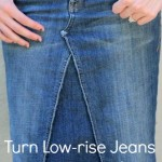 Low-rise Pants to Skirt Refashion