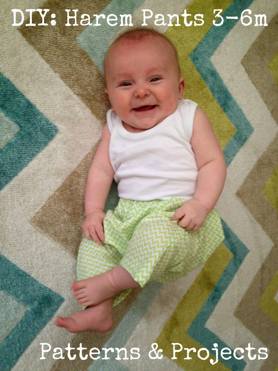 DIY Harem Pants | Mabey She Made It | #sewing #sewing for baby #harempants