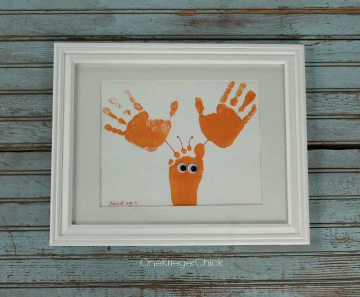 Sea Creature Handprint Art by OneKriegerChick | Mabey She Made It | #handprint #lobster #octopus