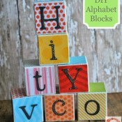 DIY Alphabet Blocks by A Glimpse Inside | Mabey She Made It | # DIY #alphabet #school #blocks