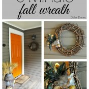 5-Minute Fall Wreath by Dolen Diaries | Mabey She Made It | #fall #autumn #wreath #falldecor #easywreath #feathers