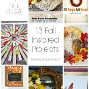 13 Fall Inspired Projects | Mabey She Made It | #falldecor #fall #autumn #wreath #doorhanging