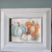 Free Pumpkin Watercolor Printable | Mabey She Made It | #pumpkin #falldecor #watercolor