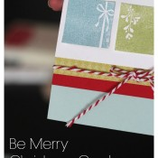 Be Merry Christmas Card | Mabey She Made It | #christmas #christmascard #stamping