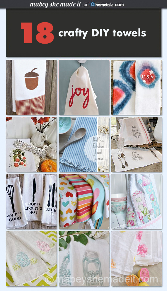 18 DIY Kitchen Towels | Mabey She Made It |