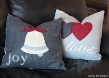 Christmas Pillow Shams Tutorial