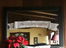 Peace on Earth Linen Ribbon Banner