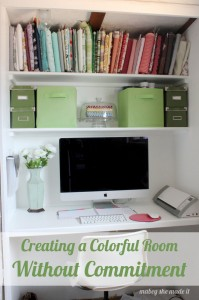 Creating a Colorful Room Without Commitment | Mabey She Made It | #decorating #homedecor #yahoodiy