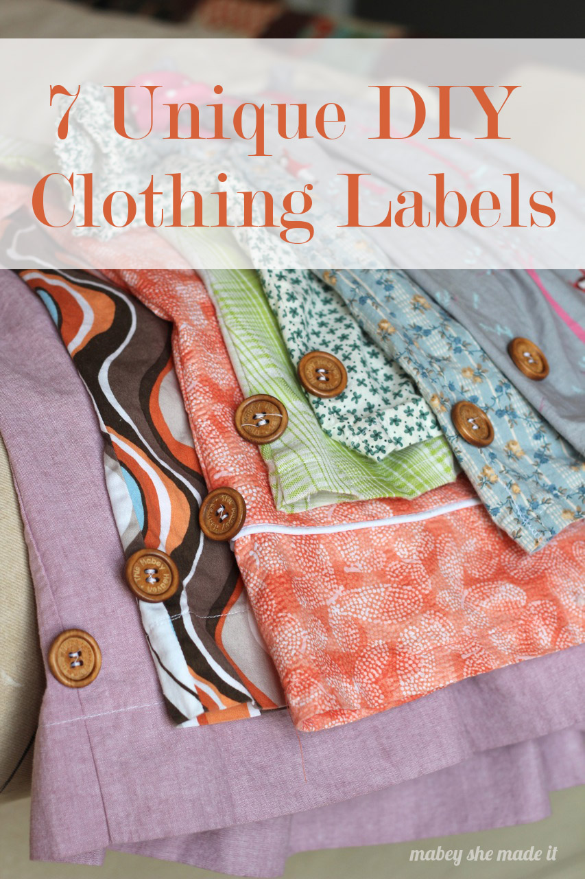 7 Unique DIY Clothing Labels | Mabey She Made It