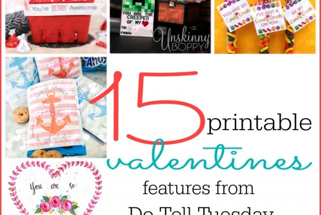 15 Printable Valentines at Mabey She Made It