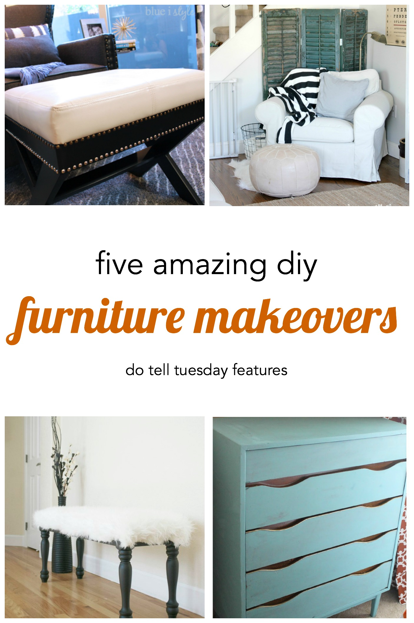 5 Diy Furniture Makeovers Do Tell Tuesday Mabey She