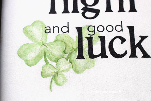 Download this free printable watercolor for St. Patrick's Day!