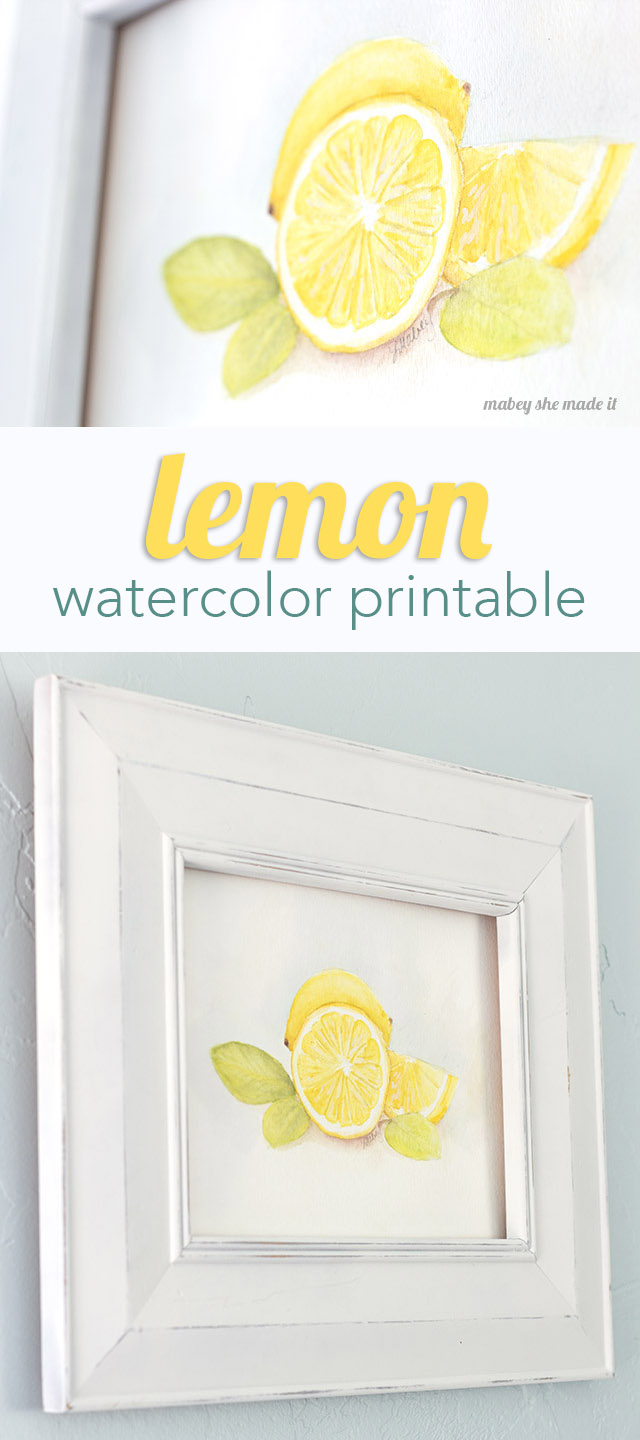 Download this free watercolor printable from Mabey She Made It