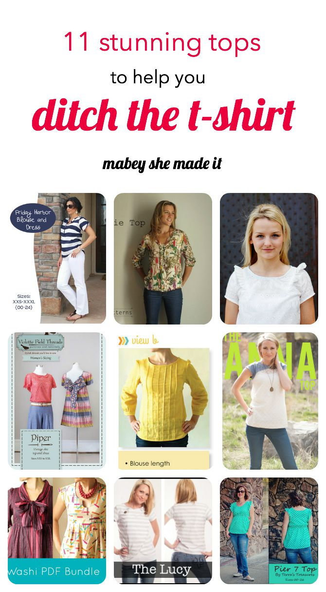 11 Stunning Top Patterns To Replace A T Shirt Mabey She