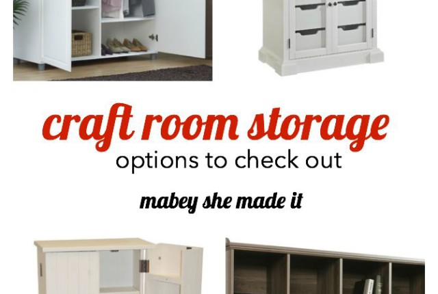 Craft Room Storage Feature