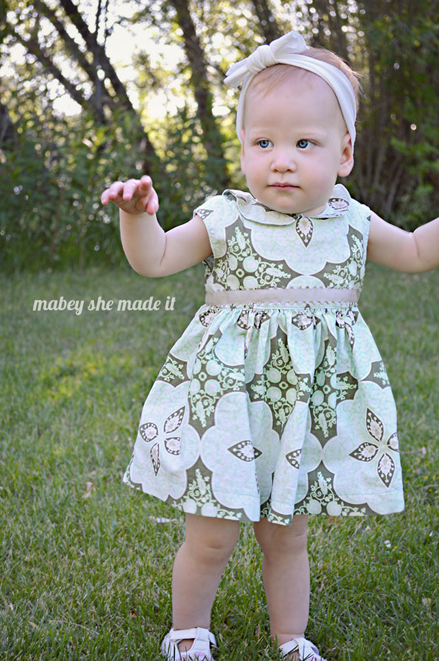 This dress is perfect! The Caroline Party Dress from Mouse House Creations sewn by Mabey She Made It