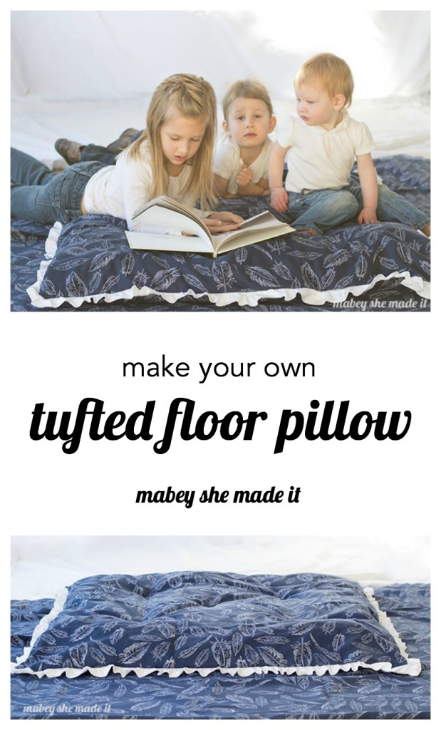 How to Make a Tufted Floor Pillow | Mabey She Made It