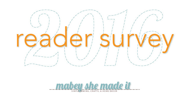 2016 reader survey for Mabey She Made It