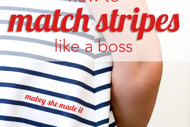 How to match stripes when sewing.