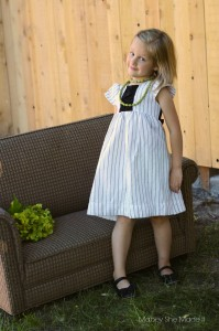 Pinstripe Dress | Mabey She Made It | #upcycle #sewingforkids #sewing #pr&p