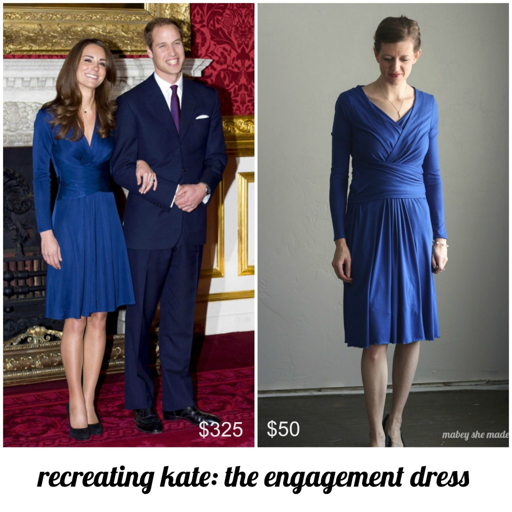 Recreating Kate: Issa Engagement Dress   Mabey She Made It   #katemiddleton #katemiddletonstyle #katemiddletonfashion #recreatingkate
