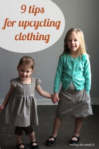 9 Tips for Upcycling Clothes | Mabey She Made It